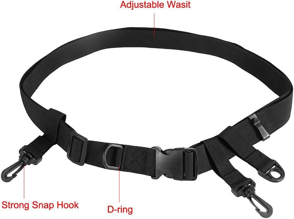 Alomejor Cintur/ón de vadeo de Pesca Cintur/ón de Cintura de Pesca Multifuncional Ajustable con Gancho D-Ring para Pesca con Mosca Surf Bastidor Kayak Accesorios de Pesca