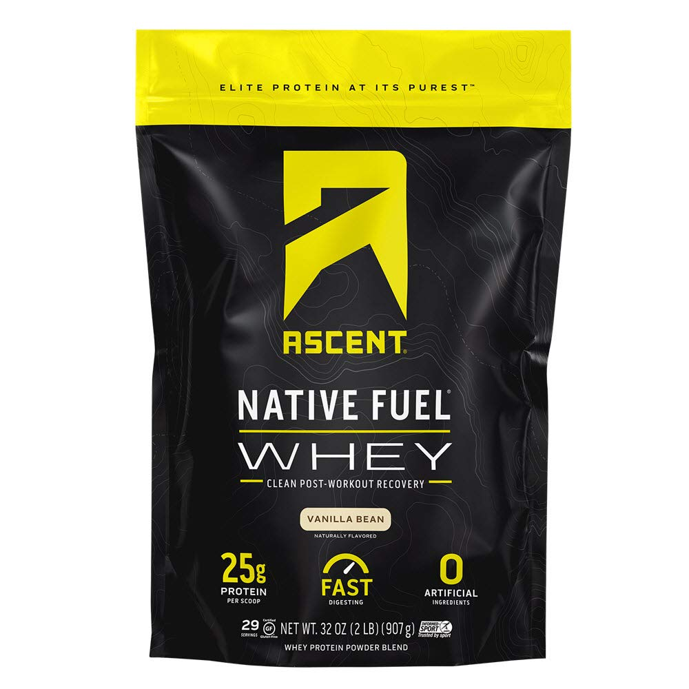 Ascent Native Fuel Whey Protein Powder – Vanilla Bean – 2 lbs