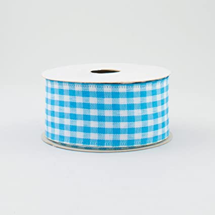 Luxury Wire Edged Ribbon LOW STOCK PICNIC HAMPER Gingham Pink White Green