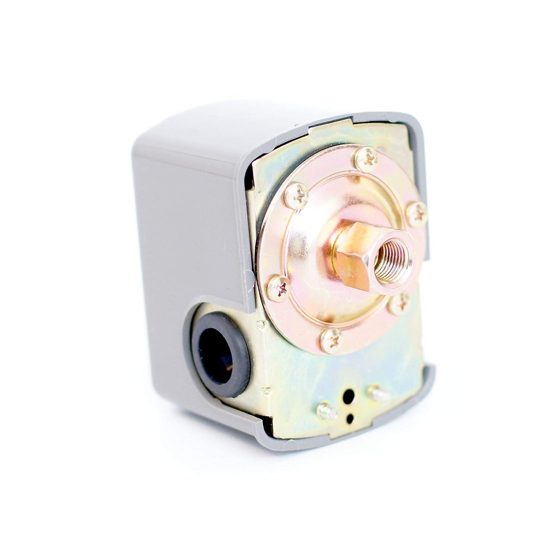 Manometer Hauswasserwerk Druckschalter//Druckw/ächter Set f/ür Druckkessel bestehend aus Druckschalter 5-Wege-Verteiler aus Messing DN25 1