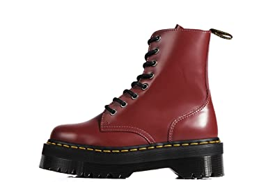 e8e766e04754 Dr. Martens Jadon Double Outsole Boots Cherry Red Double Sole Boots – Red  Red Size