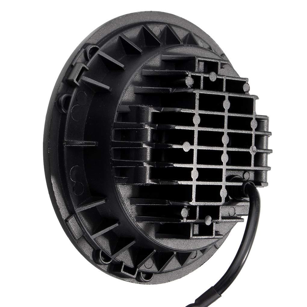 12-30V 7 Inch Round LED Front Headlights Halo Angle Eyes Light for Wrangler JK TJ 97-15 by Topker (Image #2)