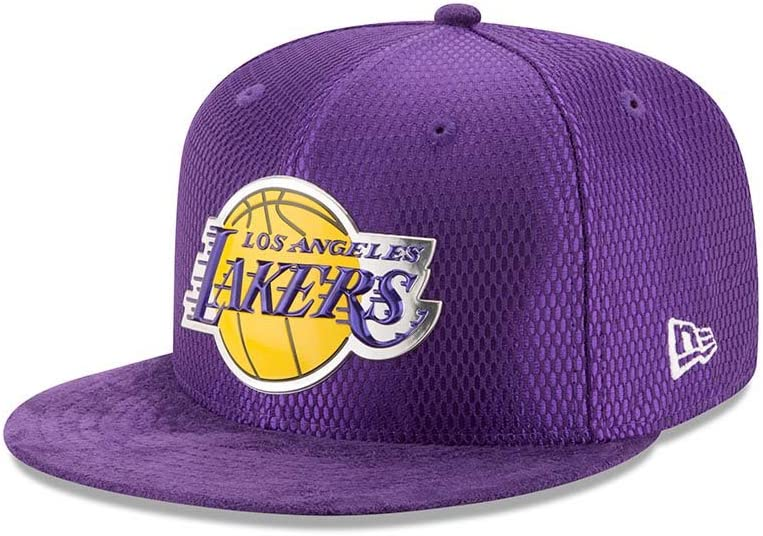 Purple New Era Los Angeles Lakers 2017 NBA Draft On Court Collection 5950 Hat