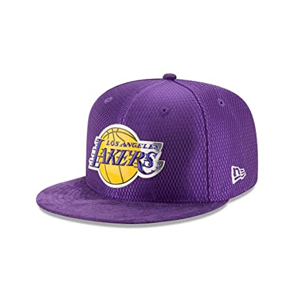 20715ab362a New Era Los Angeles Lakers 2017 NBA Draft On Court Collection 5950 Hat ( Purple)