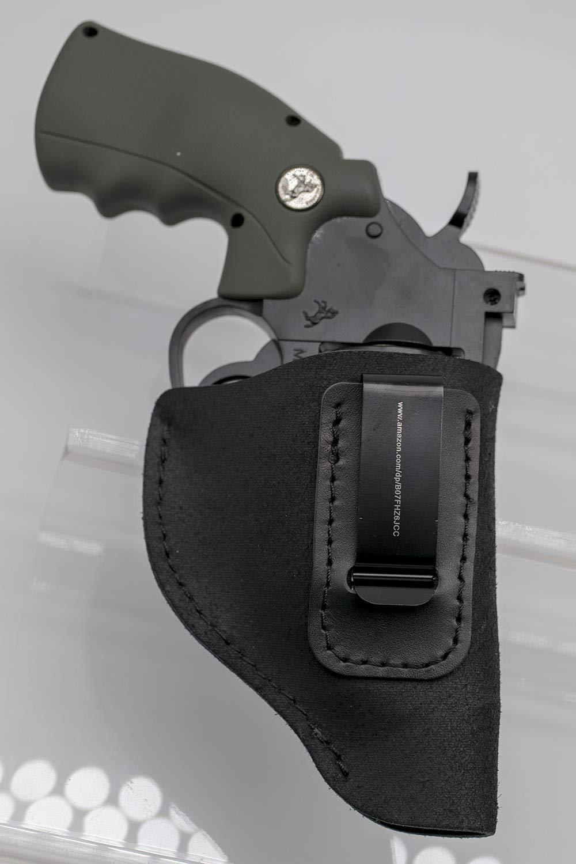 Ruger LCR Prot/ège-Corps Smith et Wesson Taurus MAYMOC Holster IWB en Daim Pistolets de Type sp/écial et Charter .38 Convient /à la Plupart des Revolvers en J