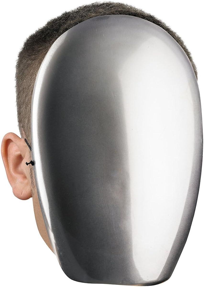 Faceless Chrome Mask Creepy No Face Horror Spooky Cobra Commander Adult
