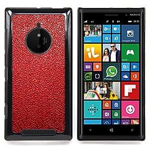 For Nokia Lumia 830 - Red Leather Pattern /Modelo de la piel protectora de la cubierta del caso/ - Super Marley Shop -