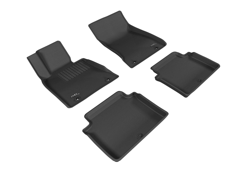 3D MAXpider L1GS00301509 Black All-Weather Floor Mat for Select Genesis G80 Models Complete Set