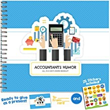 ACCOUNTANT GIFTS - Personalizable Humor Booklet With Matching Card For Your Favorite Auditor, Bookkeeper or CPA! Extremely Easy-To-Fill and Thoughtful Gift Ideas!