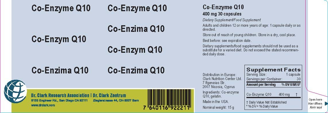 Amazon.com: Co-Enzyme Q10, 400 Mg, 30 Capsules: Health ...