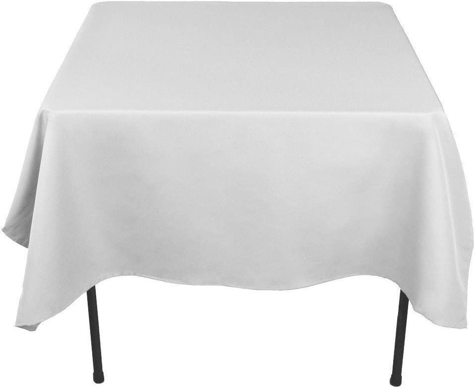 5FT Fitted Rectangular Polyester Wedding Restaurant Banquet Party Tablecloth White