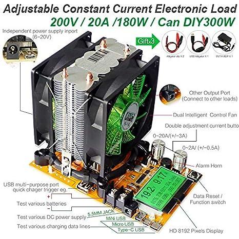 Einstellbare Elektronische Konstantstrom-Last Elektronischer Last 150W 20A 200V