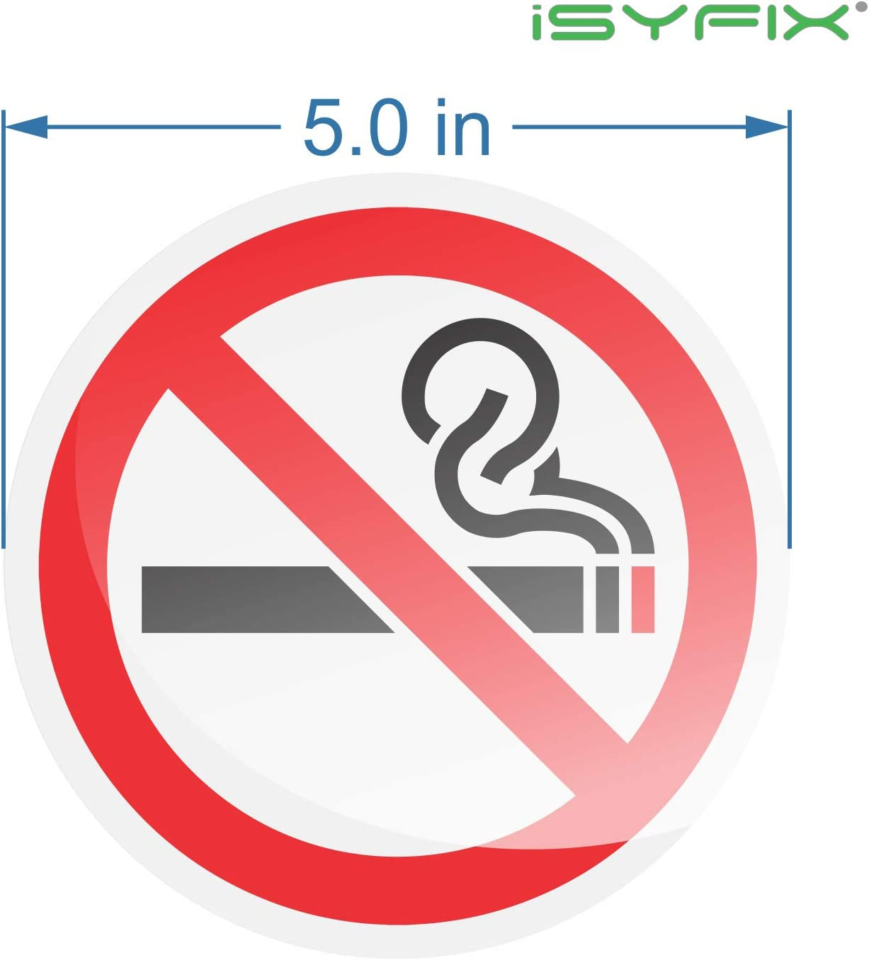 Premium Self-Adhesive Vinyl Weather No Smoking Sign Sticker for House 6 Pack 3x3 inch Water and Fade Resistance Scratch Indoor /& Outdoor Home /& Business Laminated for Ultimate UV