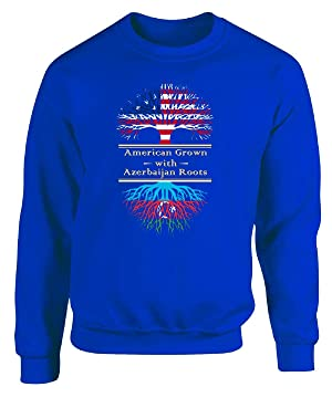 American Grown With Azerbaijan Roots Great Gifts - Adult Sweatshirt M Royal