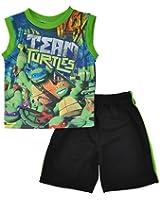 Teenage Mutant Ninja Turtles Little Boys Character Print Top 2pc Short Set
