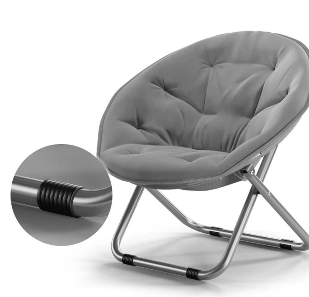 Folding Chairs Casa al Aire Libre Gran Luna Silla para Adultos/Sillón de Sol/Sillón reclinable/Sillón/Plegable/Silla Redonda/Sillón (Color : Marina)