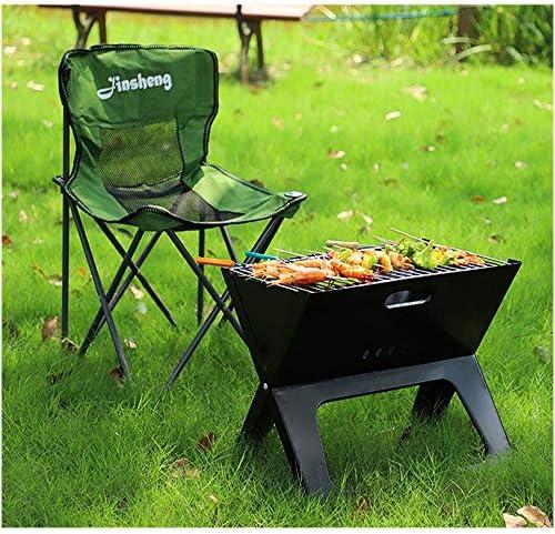 Ordinateur Portable Pliant pour Barbecue - Barbecue de Pique-Nique Portable de Type X avec Grille de Cuisson chromée pour Le Jardin et l'extérieur