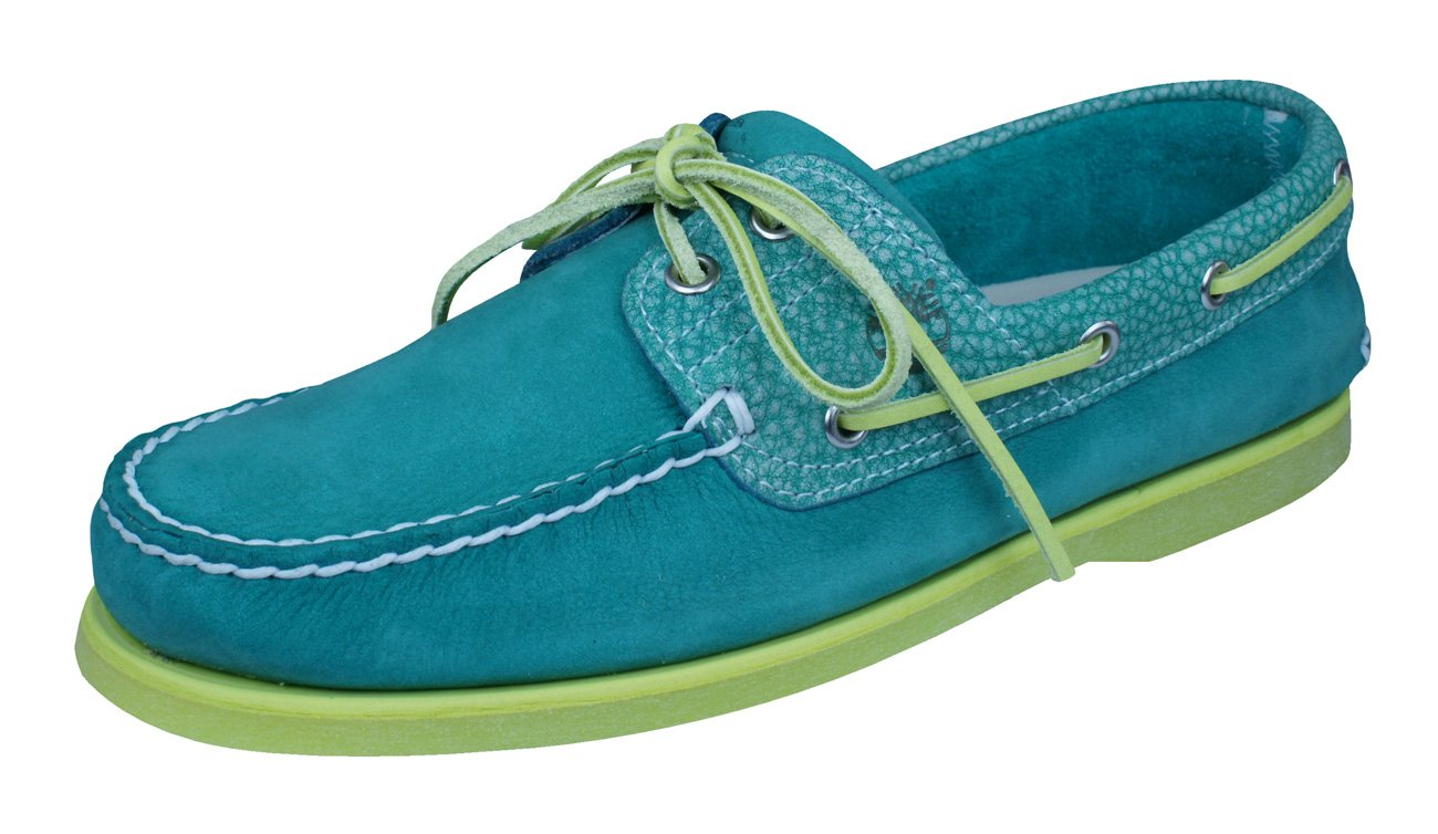 Timberland CLS2I Classic Boat Mens Leather Deck Shoes-Green-11