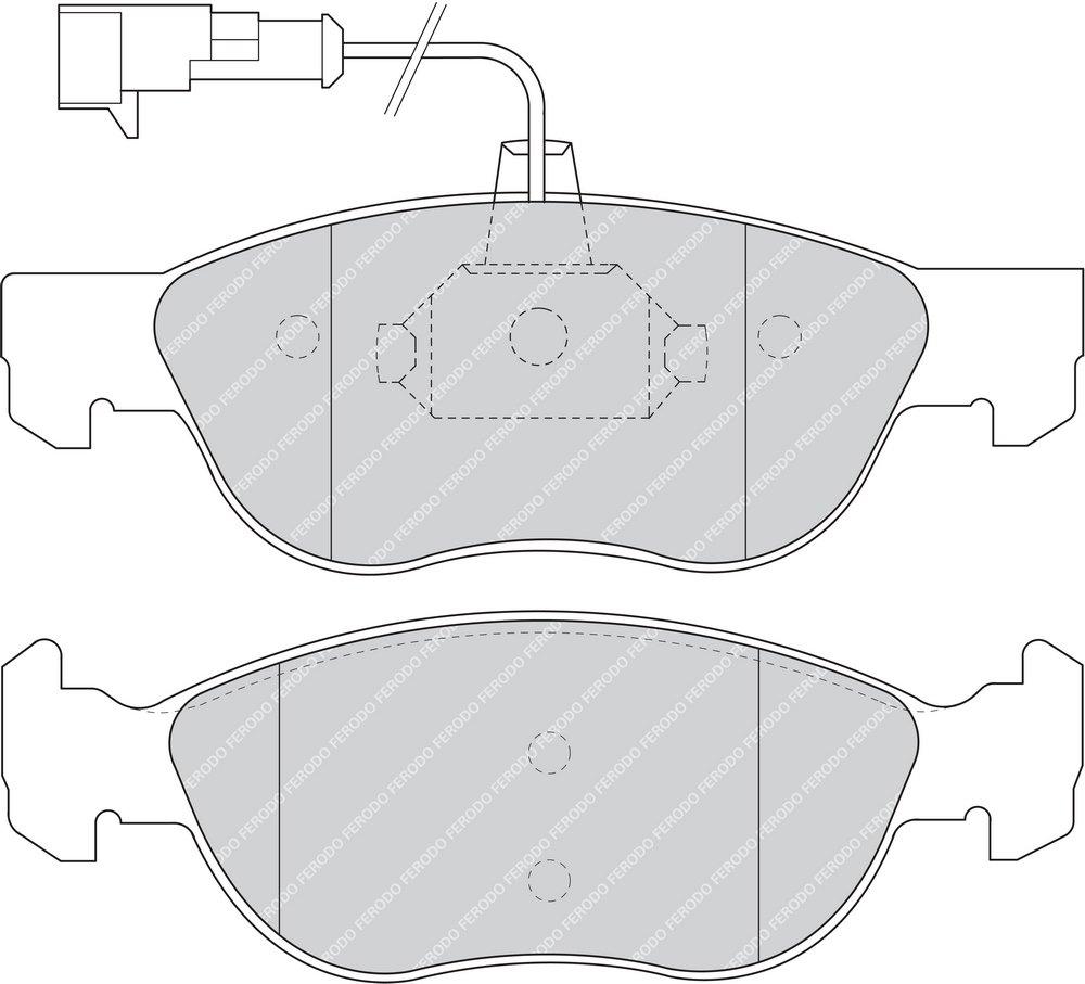 Premier Kit Pastiglie Freno Freno A Disco - Ferodo FDB1056 confezione 4 pezzi