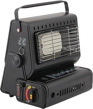 niecao Portable Gas Calefacción/Outdoor calefactor de gas/Gas Calefacción camping/Estufa/Estufa para casa, barrer, exteriores, 1300 W, color negro