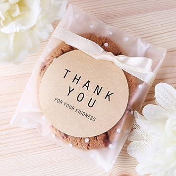 Amazon.com: Bolsas de plástico autoadhesivas para galletas ...
