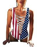 Women Sexy Criss Cross Lace Up One Pieces Bandage Monokini Swimsuit Swimwear