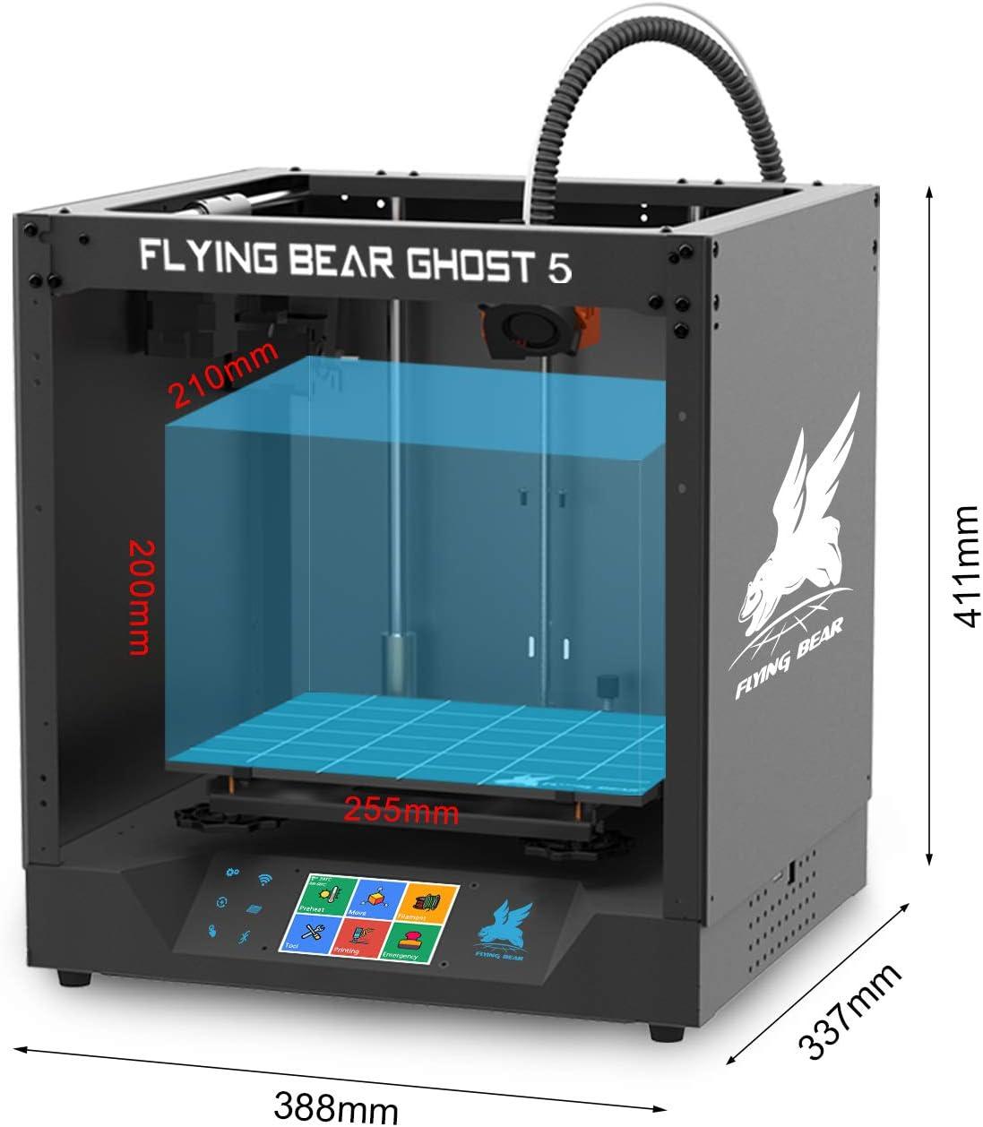 Imprimante 3D avec 3.5 Pouces /Écran Tactile WiFi Connection Machine DIY Domestique Volume dimpression 255x210x200mm Marche avec TPU//PLA//ABS FLYING BEAR Ghost5