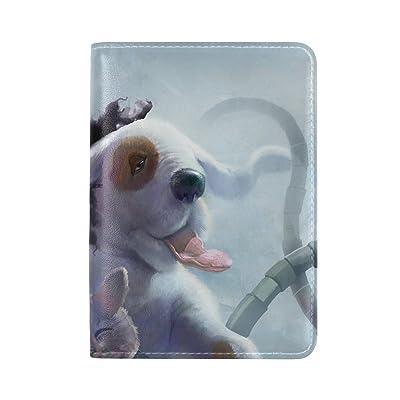 Panda Cat Dog Tentacles Robot Octopus Leather Passport Holder Cover Case Travel One Pocket