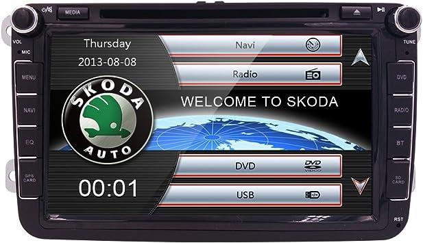 HIZPO Monitor de TV de 8 pulgadas HD Pantalla Táctil Auto Coche Reproductor de DVD GPS