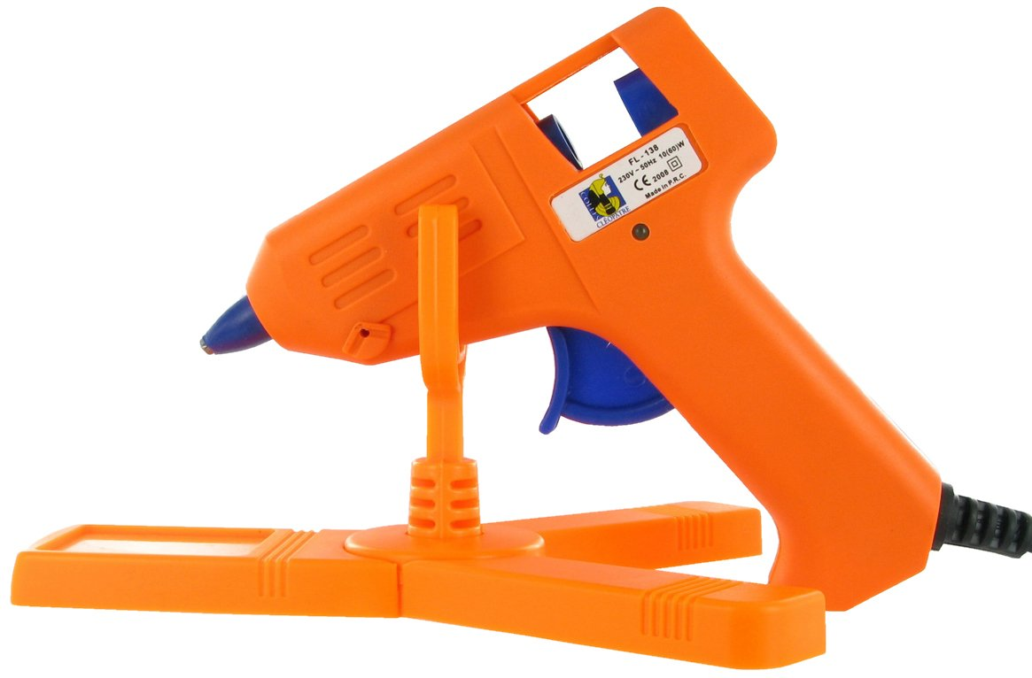Cléopâtre - POPC2RCT - Cleo'Gun FIX - Mini Pistolet à colle + 2 Bâtons de colle universelle