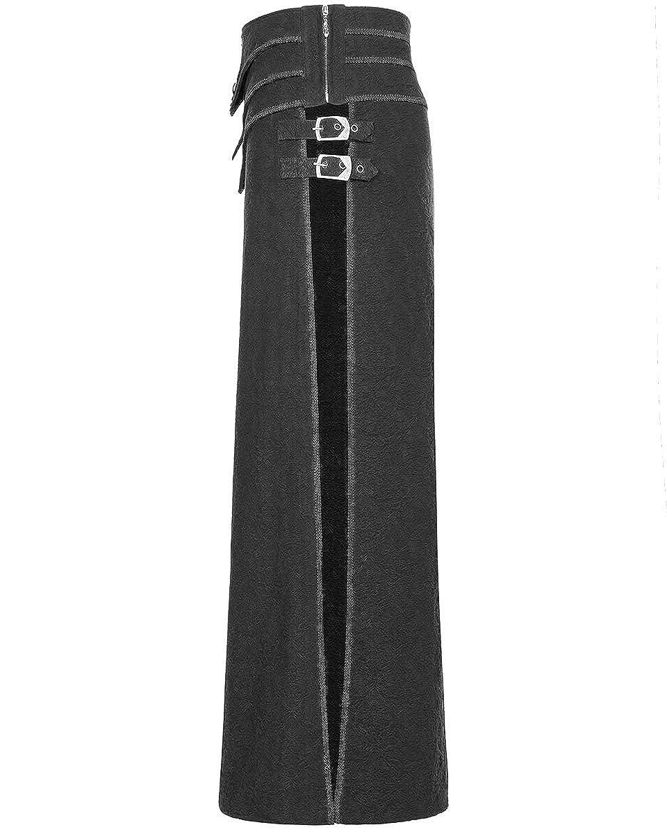 f16c0177176 Punk Rave Mens Long Gothic Skirt Kilt Black Brocade Steampunk Dieselpunk  LARP  Amazon.co.uk  Clothing