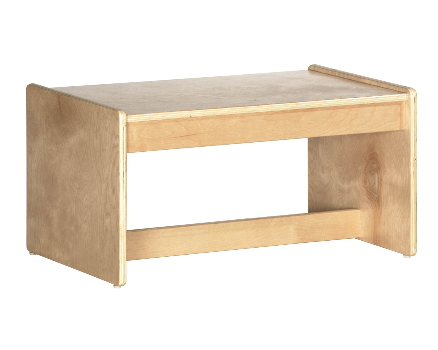 Offex Birch Hardwood Childrens Living Room Coffee Table, Natural