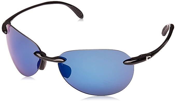 01ff2769e1fc Costa Del Mar West Bay 580P West Bay, Shiny Black Blue Mirror, Blue Mirror