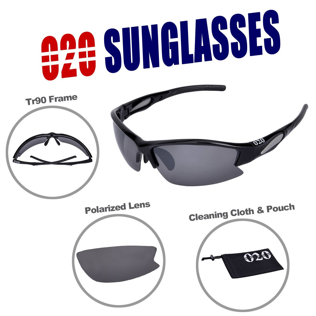 d30b192f2ee O2O Polarized Sports Sunglasses UV400 Protection Unbreakable Superlight  Weight Frame Comfortable and Fit for Men Women Teens Biking Driving Golf  Baseball ...