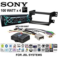 Volunteer Audio Sony MEX-XB100BT Double Din Radio Install Kit with Bluetooth, CD Player, USB/AUX Fits 2005-2010 Toyota Avalon - (Fits Factory Navigation or JBL Vehicles)