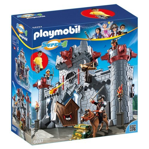 Super Set Castle - PLAYMOBIL Super 4 Take Along Black Baron`s Castle Building Kit (Discontinued by manufacturer)