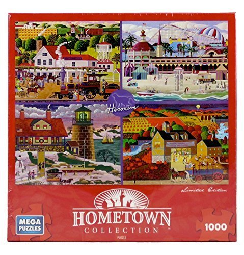 Limited Edition Jigsaw - Hometown Collection Heronim's Favorites 1000 Piece Jigsaw Puzzle Limited Edition by Mega Puzzles