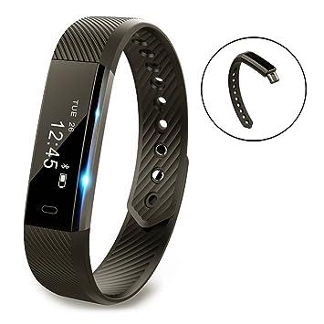Vigorun Fitness Tracker YG3 Pulsera Inteligente Notificación de llamadas/podómetro/Contador de calorías/recordatorio sedentario/Monitor de sueño Reloj ...