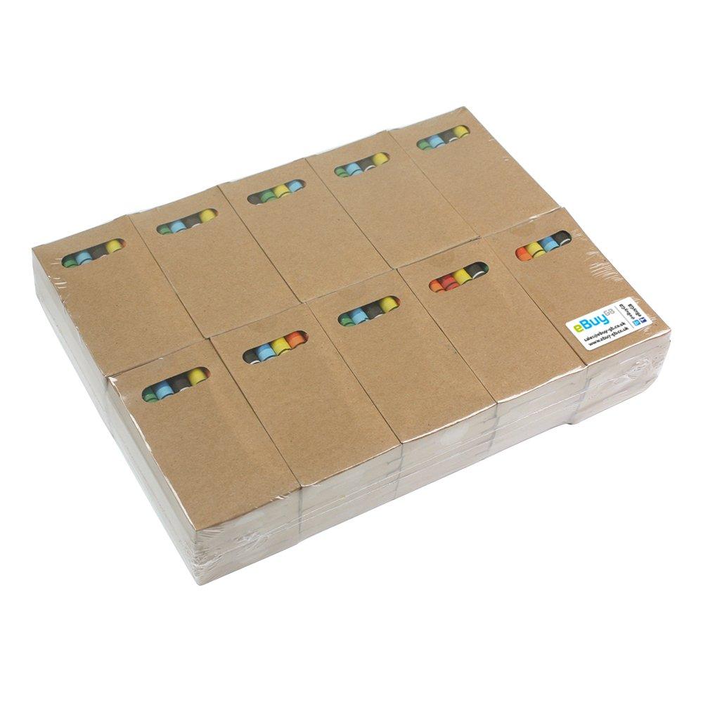 eBuyGB - Juego de ceras para colorear, paquete de 50. Ideal para bolsas de fiesta para niños y juguetes para bodas: Amazon.es: Juguetes y juegos