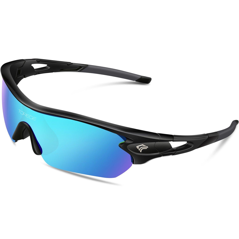 Gafas de sol deportivas polarizadas de Torege, con 5 lentes intercambiables para hombres y mujeres
