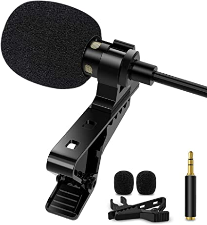 Amazon Com 1mii Lavalier Clip On Microphone 3 5mm Phone Microphone For Recording Interview Speech Youtube External Mic For Iphone Android Ipad Laptop Home Audio Theater
