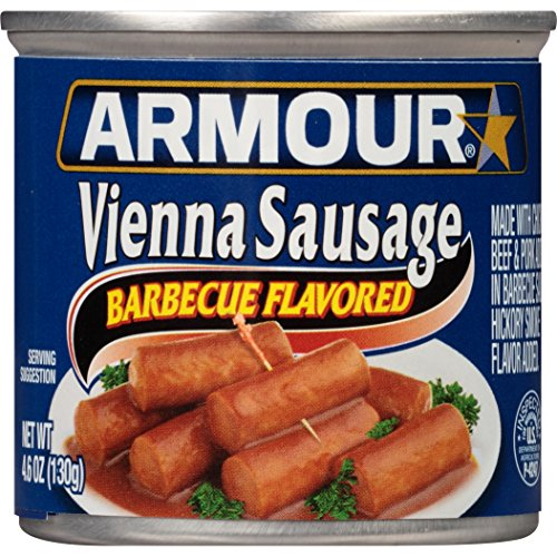 Armour Vienna Sausage, Barbecue Flavor, 4.6 Ounce (Pack of (Armour Sausage)