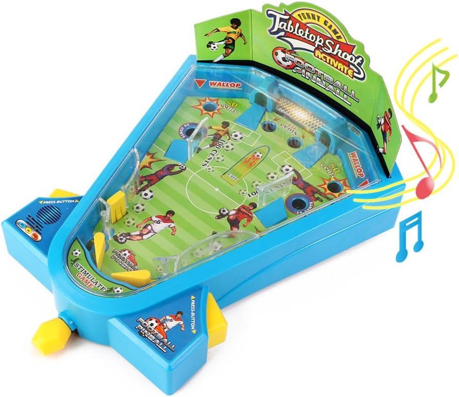 Electrónica luz mármol Pinball juegos de mesa fútbol juguetes Mini ...