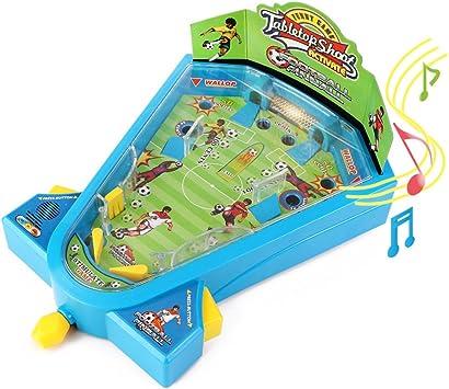 Electrónica luz mármol Pinball juegos de mesa fútbol juguetes Mini futbolín juegos de tiros actividad juguete con música para el aprendizaje de los niños por Wishtime: Amazon.es: Juguetes y juegos