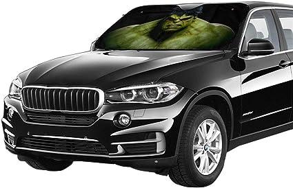 Zwflau Windschutzscheiben Sonnenschutz Hello Kitty Cafe Auto Fenster Sonnenschutz Hält Ihr Fahrzeug Kühl Uv Sonne Und Hitze Reflektiert One Size Der Hulk Auto