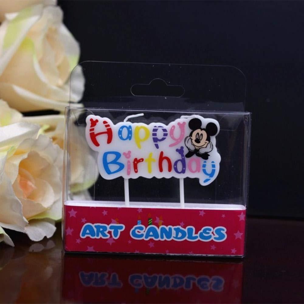MOMO Vela de cumpleaños Vela de Mickey Minnie Mouse 0-9 ...