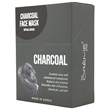 Creme Charcoal Face Mask Collection special edition 12 Pcs 3 Pack - EOS Breast Cancer Awareness Lip Balm, Strawberry Sorbet & Wildberry 2 ea