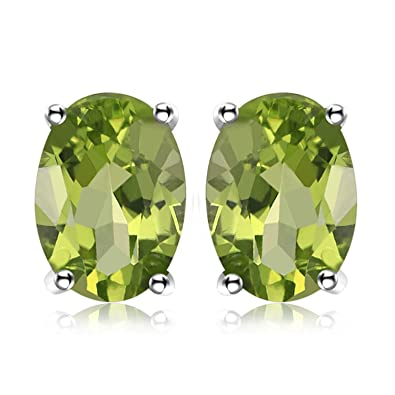 JewelryPalace Women Girls 1.4ct Pear Shape Natural birthstone Green Peridot Stud Earrings pieced Sterling Silver OOJ2vSBBh