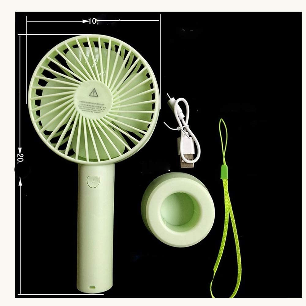Color : Pink Outdoor Travel Office USB Fans Cute Fan Portable Mini Hanging Neck Fan Detachable Base USB Lithium Battery Summer Fan for Home