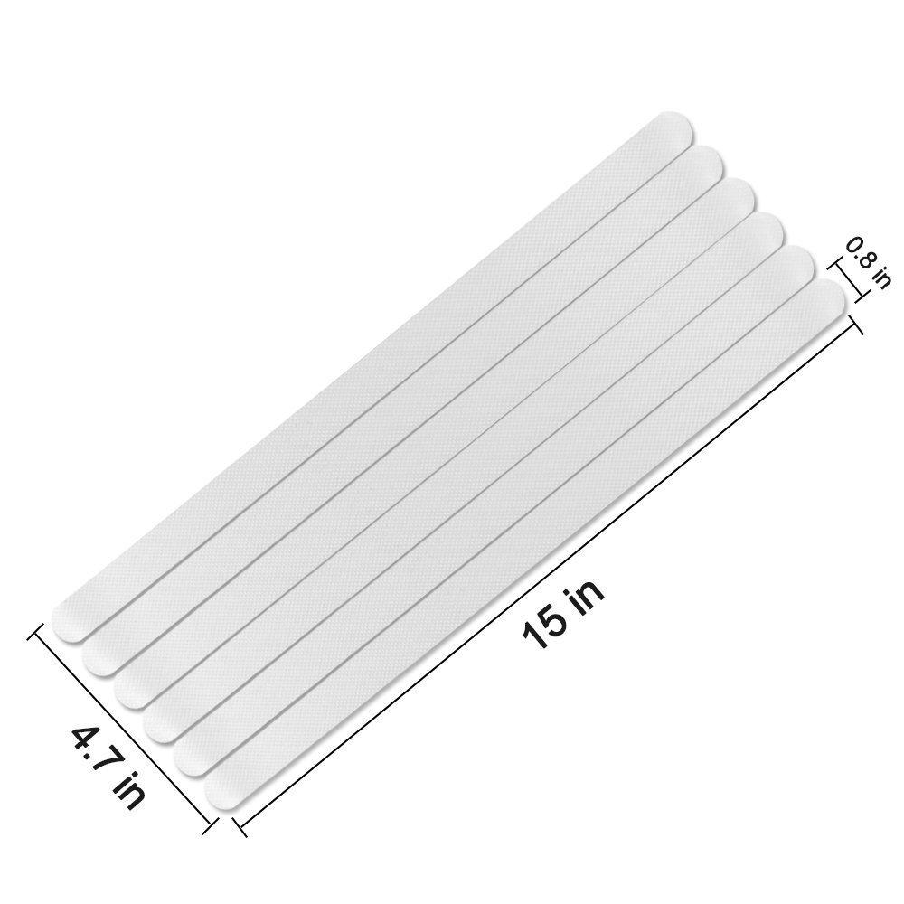 Seguro para transparentes hormig/ón Tiras de seguridad antideslizantes para escalera y suelo palo masivo madera dura evitar caidas Impermeable azulejos ba/ños Uso en interior//exterior 12 pinzas de agarre de 0,8 x 15 para escaleras